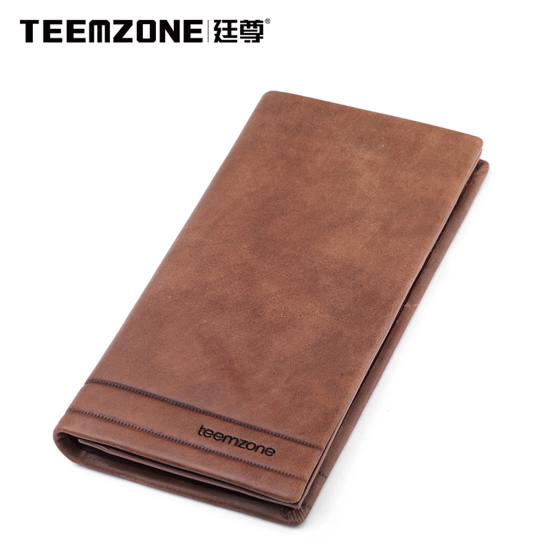 Men Wallets Brand Teemzone Mens Wallet Leather Genuine Men's Purse Clutch Bags Casual Cowhide Credit Card Holder Man Wallet 2018new men wallets luxury brand men wallet leather genuine cowhide men s clutch bags hot business casual purses man bag polo128