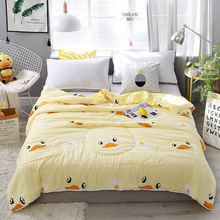 1PCS Yellow Duck Quilt Soft Polyester Fiber Solid Color MenS And WomenS Single Double Blanket Household Bedding