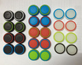 4 unids color doble antideslizante de silicona joystick thumbstick grip thumb stick tapas casos para ps3 ps4 xbox 360 controlador xbox one