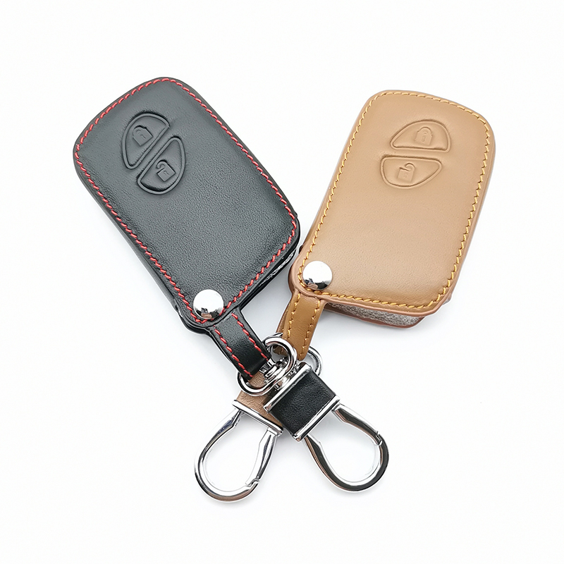 <font><b>2018</b></font> Fashion Style Leather Car Key Case Covers For <font><b>Lexus</b></font> IS250 ES240 ES350 RX270 <font><b>RX350</b></font> 2 Buttons Protection Car <font><b>Accessories</b></font> image