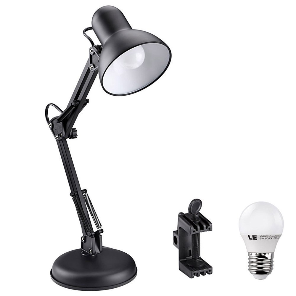 ФОТО American, wrought iron folding the LED desk lamp that shield our eyes