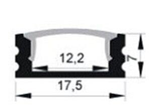 """Image 2 - 10 יחידות 1 m אורך LED אלומיניום פרופיל משלוח חינם led רצועת אלומיניום ערוץ דיור פריט לא. LA LP07 עבור 12 מ""""מ רוחב led רצועת"""