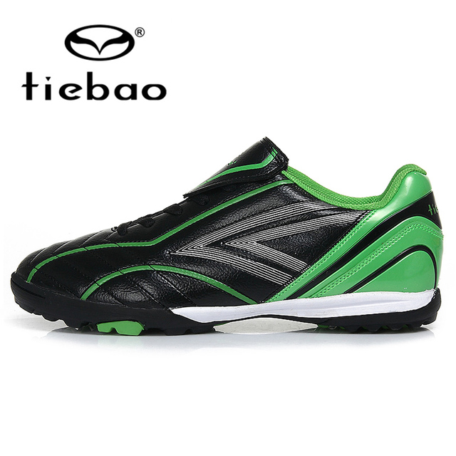 TIEBAO Professional Outdoor Soccer Shoes TF Turf Sole Football Children Kids Teenagers Athletic Training Shoes Sneakers