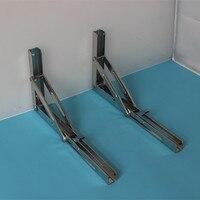 Stainless Steel Folding Shelf Bench Table Folding Shelf Bracket 550lbs Folding Table Wall Mounted