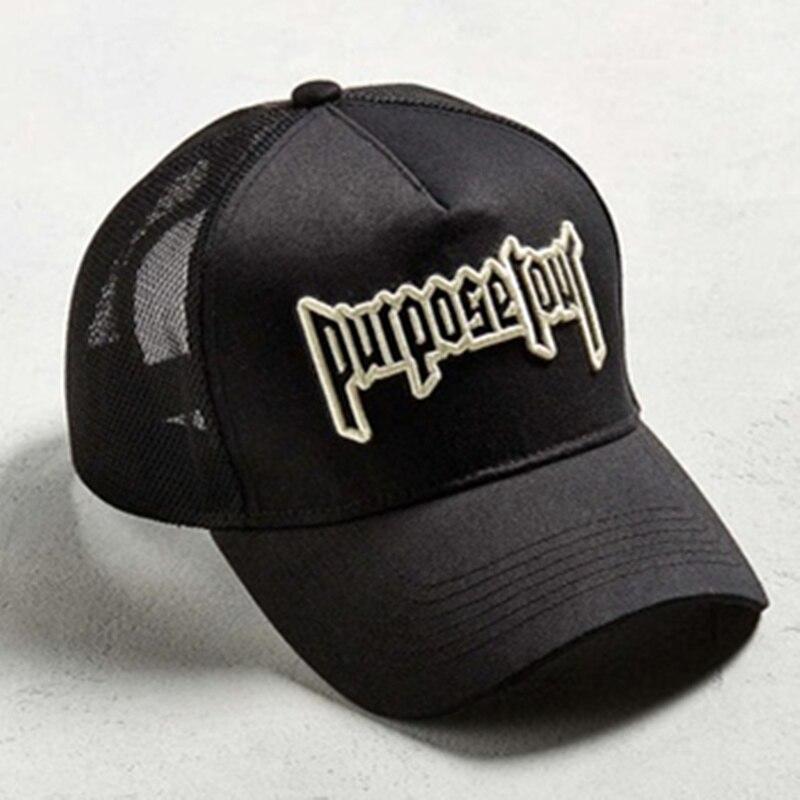 Purpose Tour вышитые Бейсбол Кепки Винтаж Ретро Джастин Бибер шляпа High  Street Темный прилив Кепки s 4f50768ed8e8