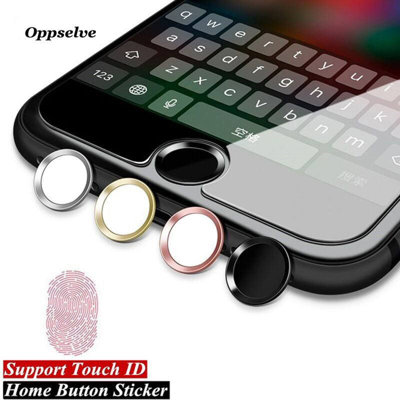 Oppselve Universal Home Button Sticker För iPhone 8 7 6 s 6s Plus 5 5s Fingeravtryck Touch ID Nyckel Anti Sweat Protector För iPad