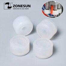 Tête de mandrin de capsulage de garniture en caoutchouc de roues de frottement de ZONESUN pour le jus cosmétique de parfum de Machine de capsulage de bouteille médicale de XLSGJ 6100