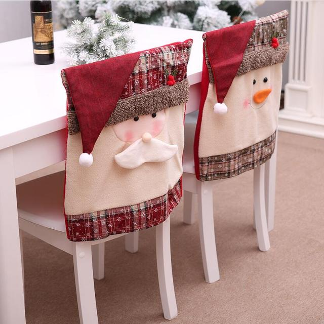 Chair Covers New Year Power Parts Jazzy Christmas Cap Cover Cute Snowman Santa Hat Chairs 2019 Home Decoration Cristmas Navidad Seat Decor J011