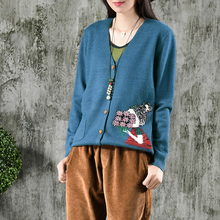 Johnature Women Knitted Cotton Sweater Sweet Cardigan Pockets V-Neck Long Sleeve Autumn Sweater 2018 New 5 Color Women Sweaters