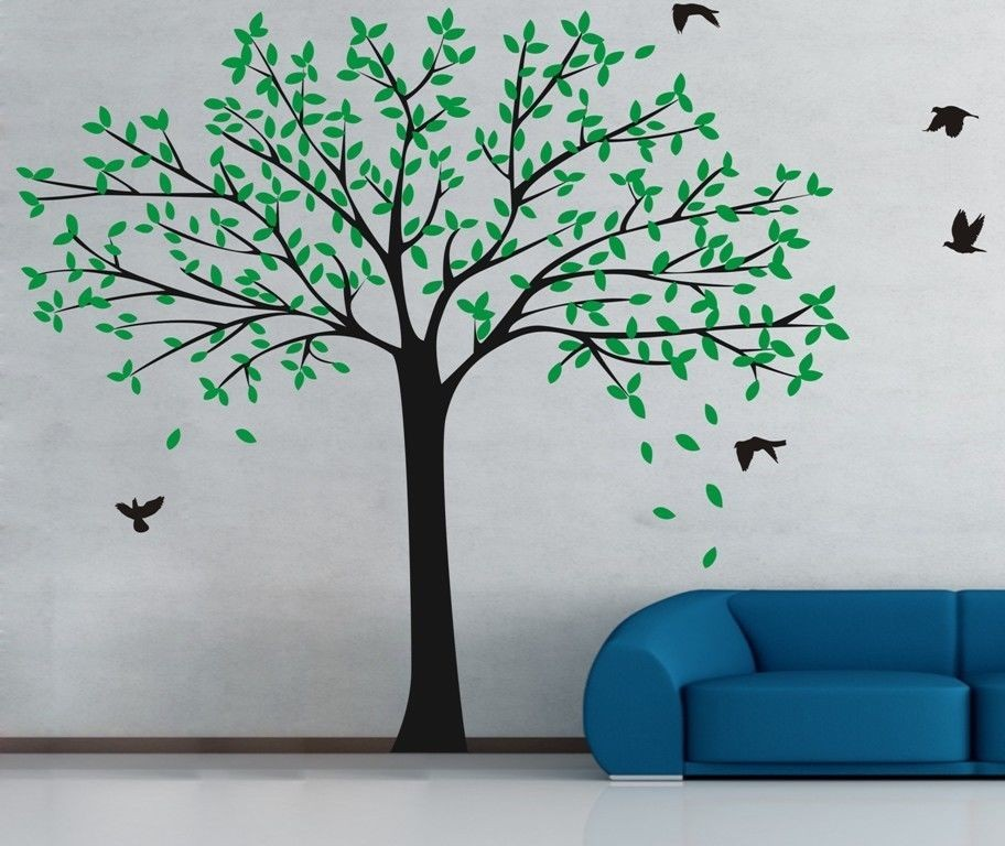 Big Size Family Photo Frame Tree Wall Stickers Decor For Baby Kids Bedroom  Wall Decal Perfect Quality Wallpaper Poster D815C