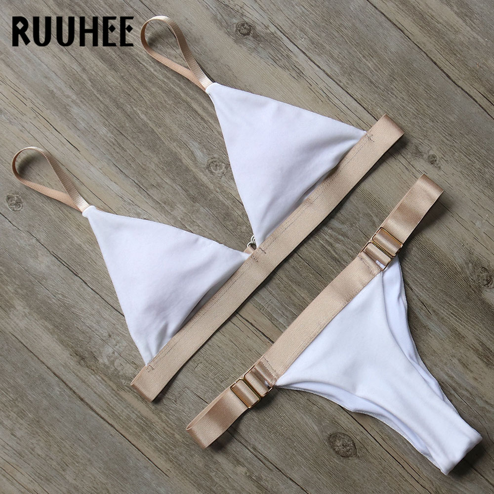 RUUHEE Sexy Bikini Swimwear Swimsuit Bikinis Set Bathing Suit Women 2017 Biquini Push Up Beachwear Maillot De Bain Femme 2017 ruffle one piece swimsuit push up swimwear women sexy monokini solid bathing suit high cut beachwear maillot de bain femme page 9