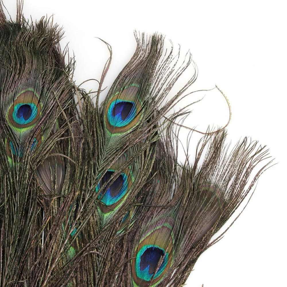 300 Pcs/pack réel naturel paon yeux queue plumes belles plumes naturelles fête de mariage embellissements faisant la décoration