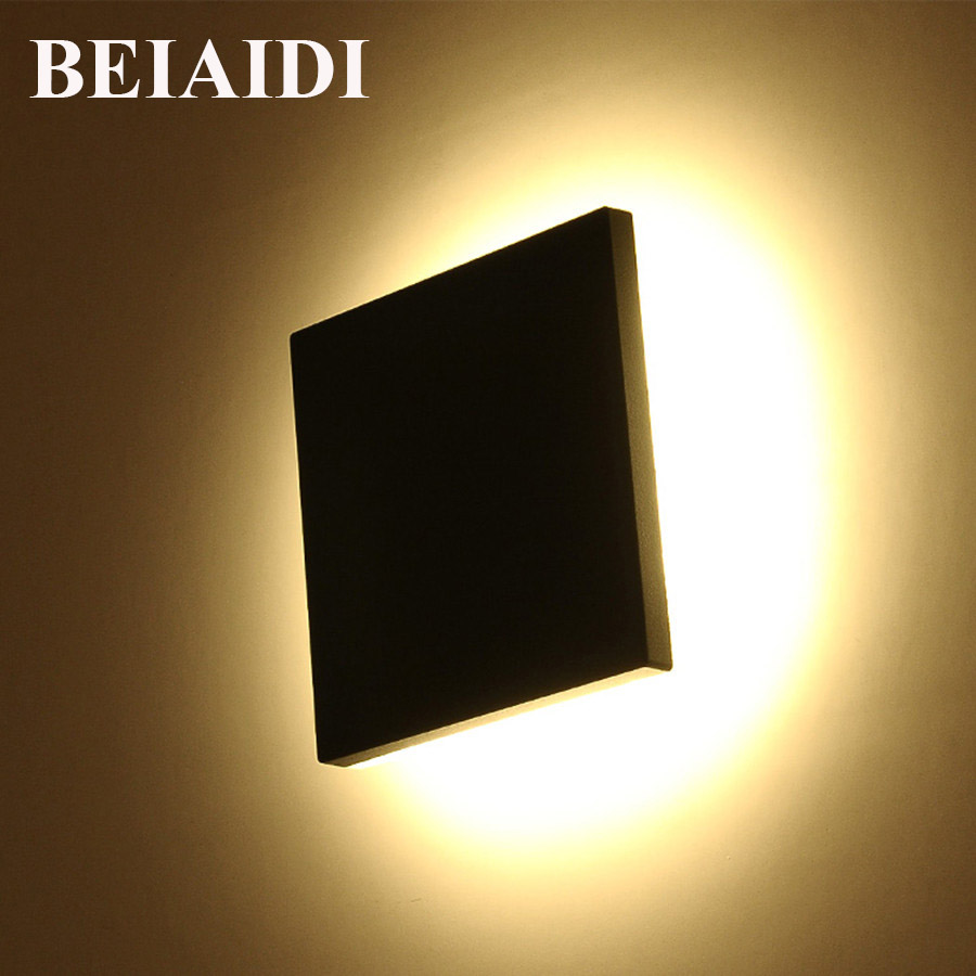 BEIAIDI Square Shape Outdoor Led Wall Light 10W Garden Corridor Porch Light Waterproof Building Exterior Gate Villa Wall Sconces waterproof cube led wall light 10w led wall sconce lamp led porch lights outdoor sconces exterior gate balcony garden yard