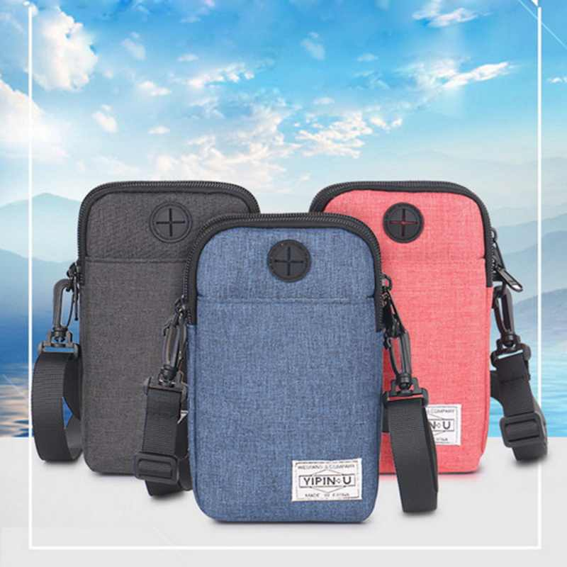 Outdoor Waterproof Handbags Casual Pockets Mini Mobile Phone Bag Multi-function Fashion Shoulder Bags