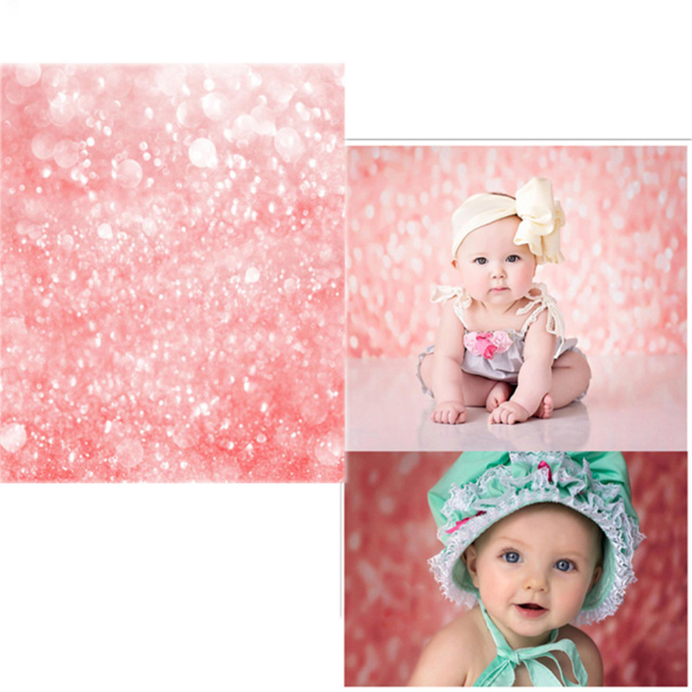 Pink Bokeh Photography Backdrop Printed Sparkles Newborn Photo Shoot Wallpaper Prop Baby Girls Birthday Party Booth Backgrounds pet attire sparkles dog collar 8 12in pink
