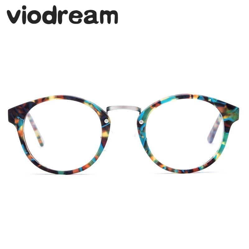 Viodream mode fait à la main plaque plastique titane myopie lunettes cadre unisexe Prescription lunettes montures De lunettes Oculos De Grau