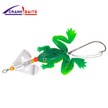 CRANK BAITS New frogs Fishing Lure Set 1pcs/LOT Rubber Soft Fishing Lures Bass SpinnerBait spoon Lures carp fishing tackle YB182(China)