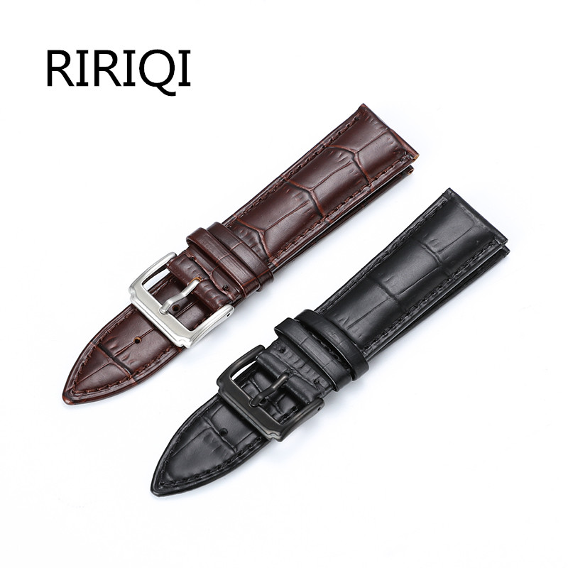 Permalink to Watchband  16mm 18mm 20mm 22mm Alligator Full-grain Crocodile Grain Genuine Leather bands Black Brown Watch Strap
