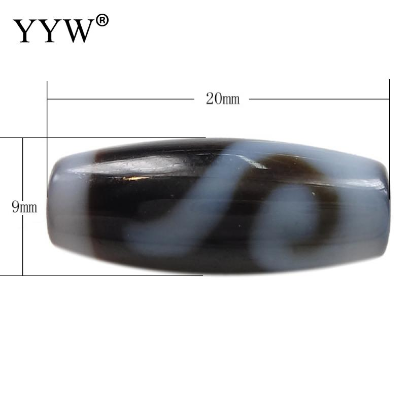 Natural Tibetan Stone Dzi Beads Oval AAA Grade Money Hook & Two Tone Fit Bracelet Diy Fashion Jewelry Gift Men Women 20x9x3mm