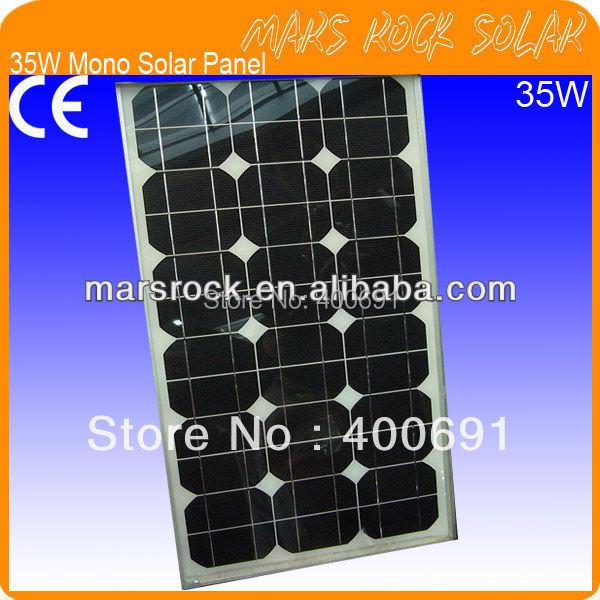 35W 18V Monocrystalline Silicon Solar Panel Module with 36  A Grade 5 Solar Cells, Nice Appearance, Reliable Parameter 100w 12v monocrystalline solar panel for 12v battery rv boat car home solar power