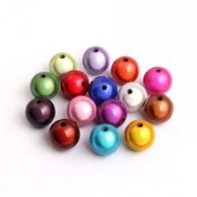 Крупная Бриллиантовая бижутерия OYKZA для девочек, ожерелье из бисера, ювелирные изделия от 4 мм до 30 мм