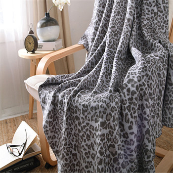 Toallas De Mano Gris | Manta De Leopardo Marrón A La Moda, Manta De Punto Gris Para Sofá Cama O Coche, 100% De Algodón 200x230 Cm, Sábana Suave Para El Hogar