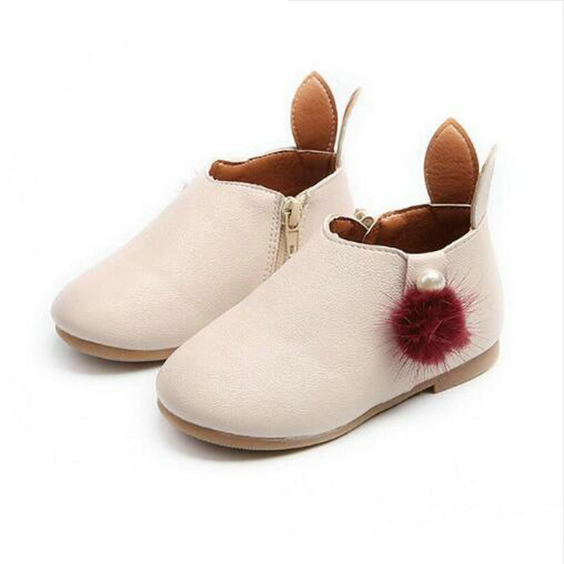 Baby Girl Boots Childrens Kids PU Leather Boots Single Princess Spring Autumn Casual Shoes Size 21-30