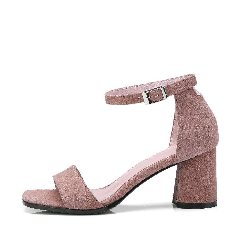 Noir 42 D'été Slip 2018 Taille pink Chaussures Véritable Talons Daim Robe Femme Black 34 Femmes Rose on Hauts Spartiates Sandales green Pour Bureau De Grande Kickway wBUFqaxa