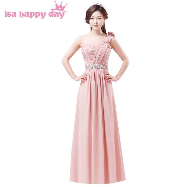 4bd7f8a47d46 Donne di formato personalizzato una spalla convenzionale blush abito da  sera lungo elegante 15 compleanno occasioni