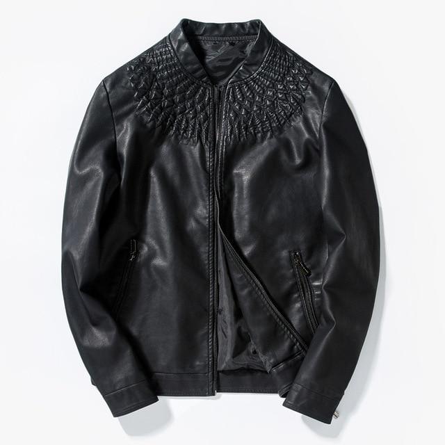 2017 мотоцикл куртки мужчины, мода мужская кожаная куртка masculinaleather куртки мужчины пальто куртки Slim Fit