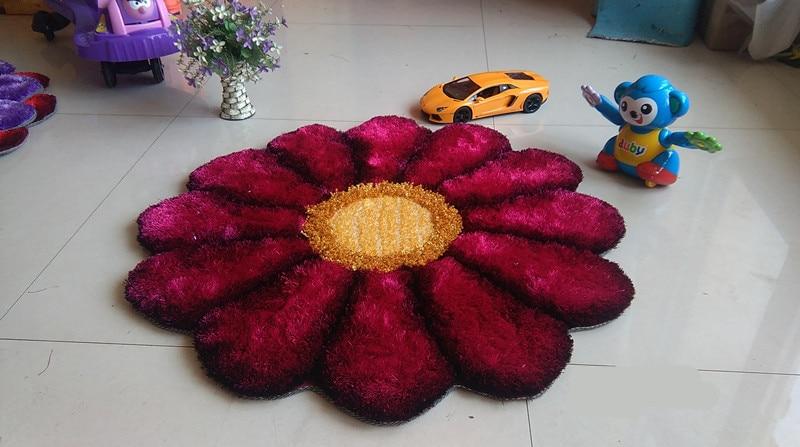 90 см x 90 см, круглые 3D Цветочные ковры для гостиной, тянущиеся ковры из пряжи, коврик для двери, свадебный ковер для спальни, Декор, Alfombras - Цвет: 04