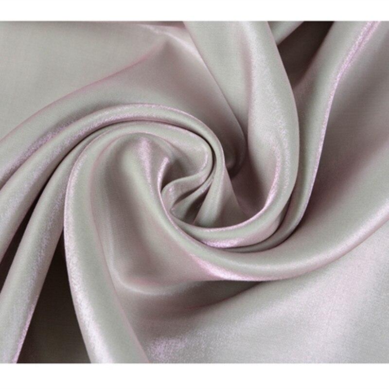 CF468 1meter Changeable Beige Tencel Cotton Fabric Imported Coloured Glaze Super Thin Silk Satin Fashion Women Skirt Fabrics