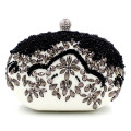 Women messenger bags brand fashion new 2016 European high-grade Black Beaded wallet Handmade pearl diamond lady evening bag