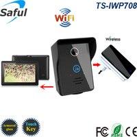 Wireless WiFi Video Door Phone Intercom Doorbell IOS Android Smart Home PIR IR Night Vision Alarm