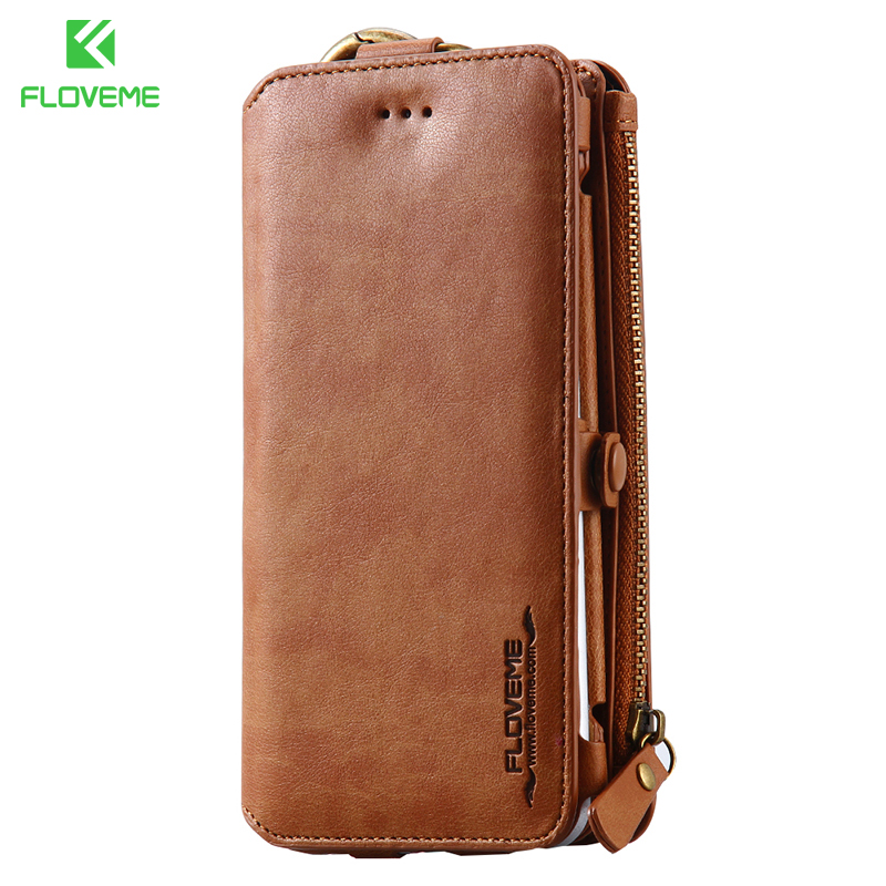 a0c0852efbe9 US $13.99 40% OFF|FLOVEME Leather Wallet Case For Apple iPhone 6 6s 6 plus  6s plus Pouch Cases Women Men Phone Bag For iPhone X 8 7 6S Accessories-in  ...
