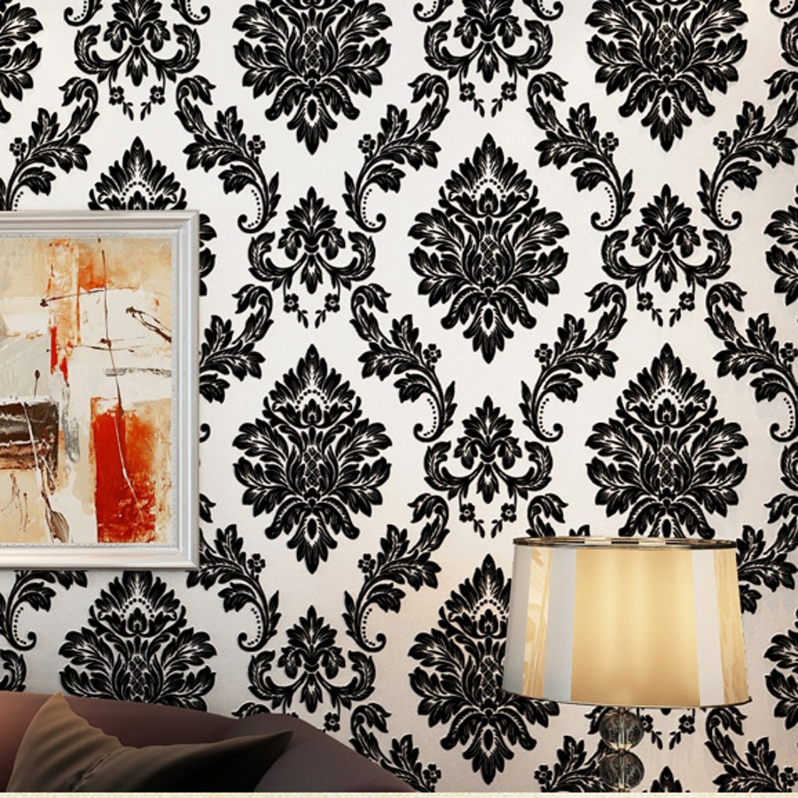 beibehang Luxury 3d wallpaper for walls 3 d mural papel de parede 3d flocking Velvet Gold wall paper roll wall papers home decor fluffy cosplay halloween party cat faux fox fur ears costume hairpin hairband black white purple leopard black