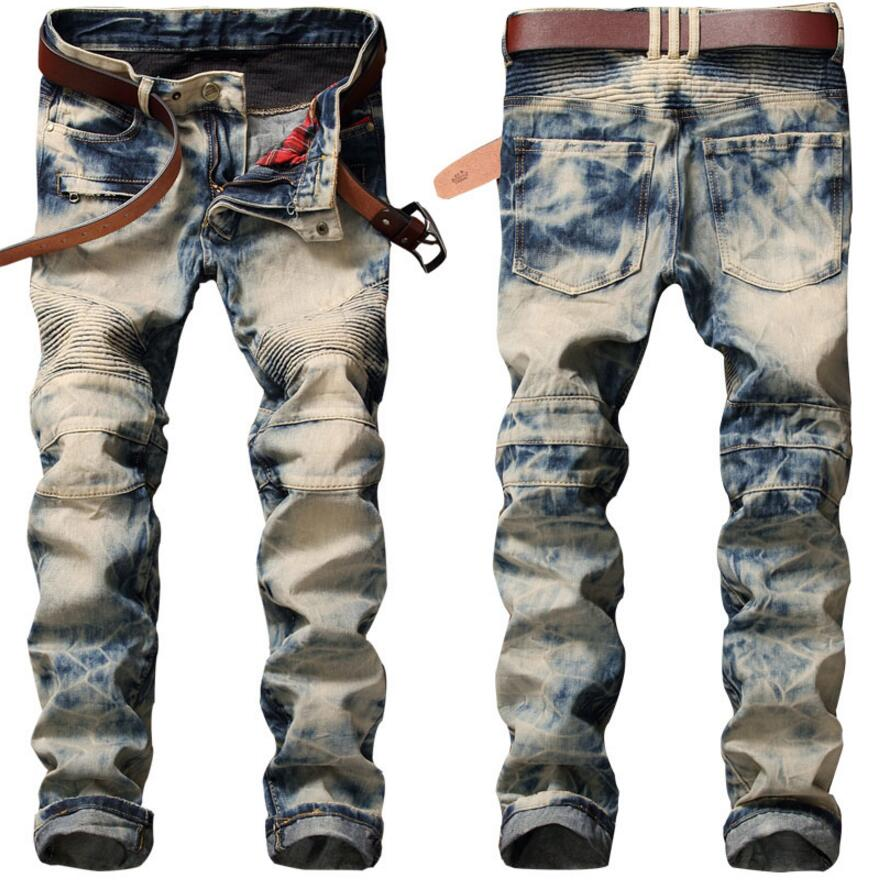2017 New Arrival Fashion 2017 New Brand Jeans Retro Nostalgia Straight Denim Jeans Men Plus Size 28-38 Trousers Brand Biker Jean autumn fashion men s jeans retro nostalgia straight denim jeans men plus size 38 casual men long pants trousers brand biker jean