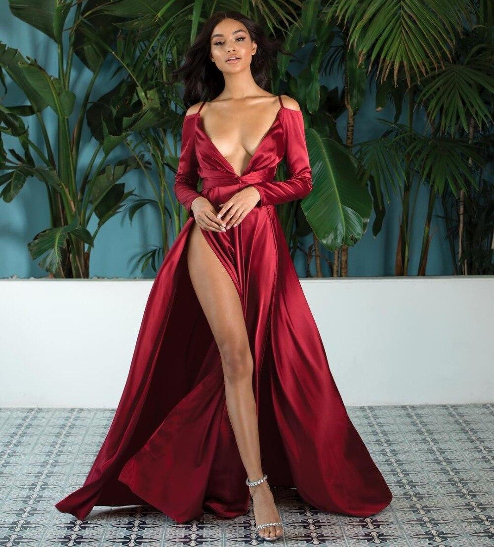 Haute qualité Sexy femmes col en v 2 couleurs fourche ouverte rayonne élégant retour robe de soirée élégante