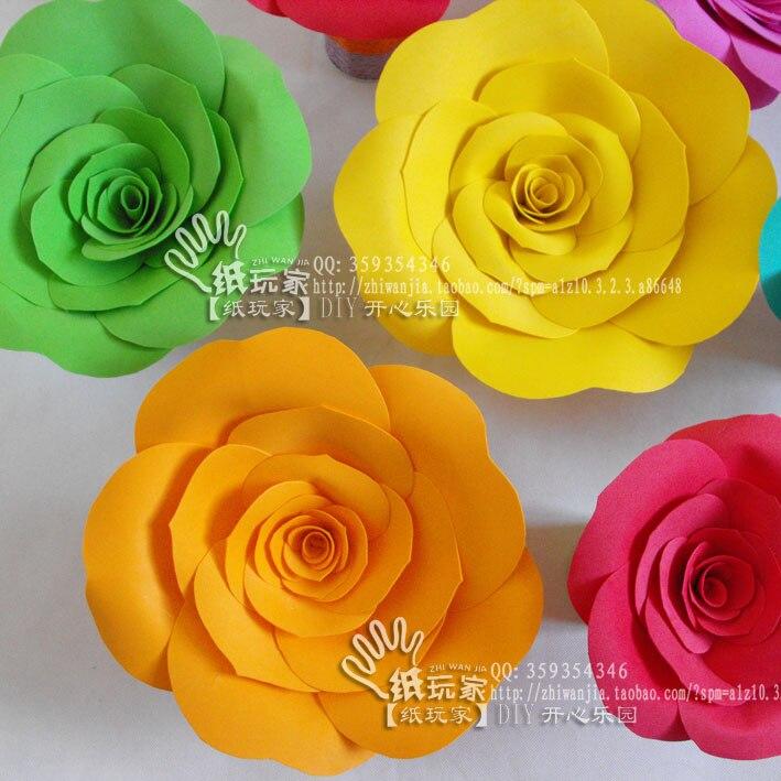 Wedding Props Flower Foam Large Paper Flowers 0002