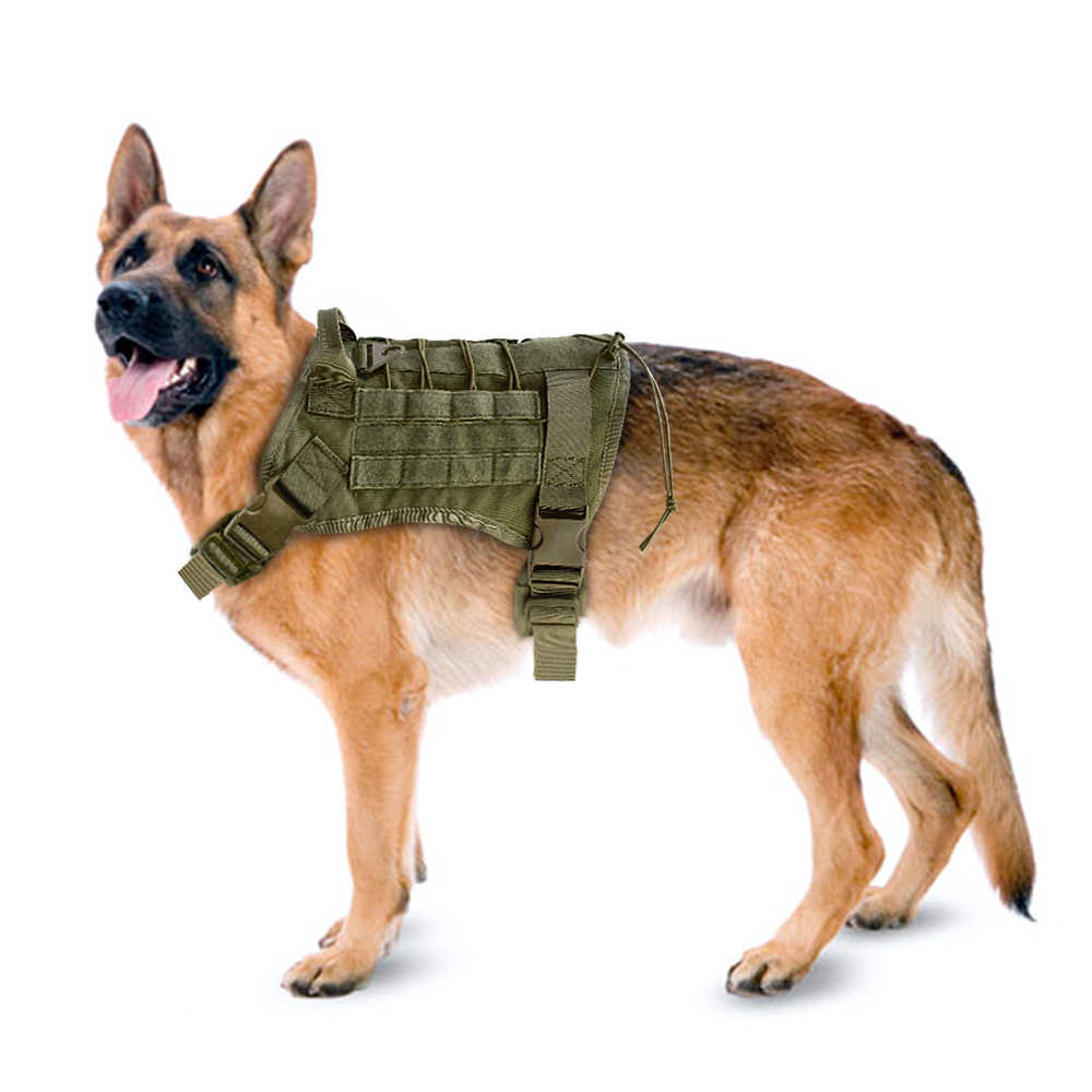 Detail Feedback Questions about Military Dog Vest Harness Tactical