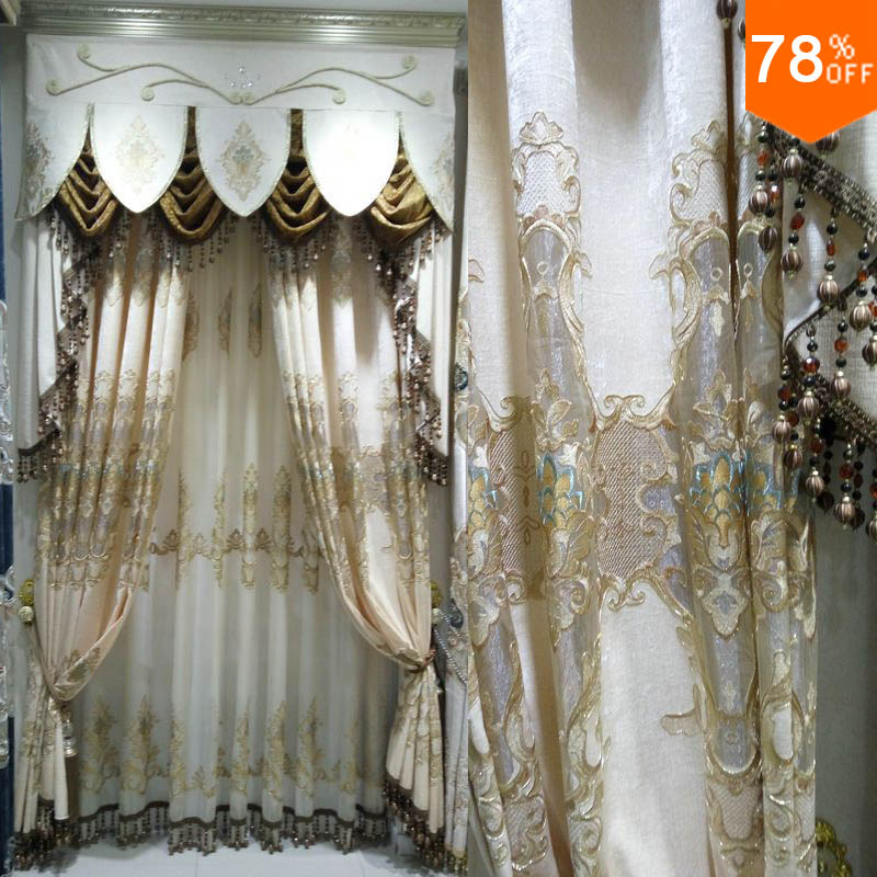 Popular luxury curtains buy cheap luxury curtains lots from china luxury curt - Rideaux anciens dentelle ...
