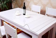 1.0mm 90cm Soft Glass Transparency PVC Table Cloth Waterproof Party Wedding Home Kitchen Dining Placemat Pad Thickness