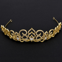 2016 New Design Full Top Quality CZ Gold Plated Bridal Hair Accessories For Women Wedding Tiaras