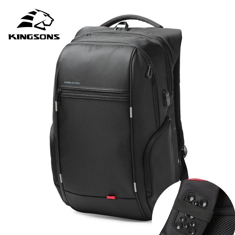 Kingsons Waterproof Men Women Backpack USB Charging Male Female School Backpacks Anti theft Laptop Backpack 13