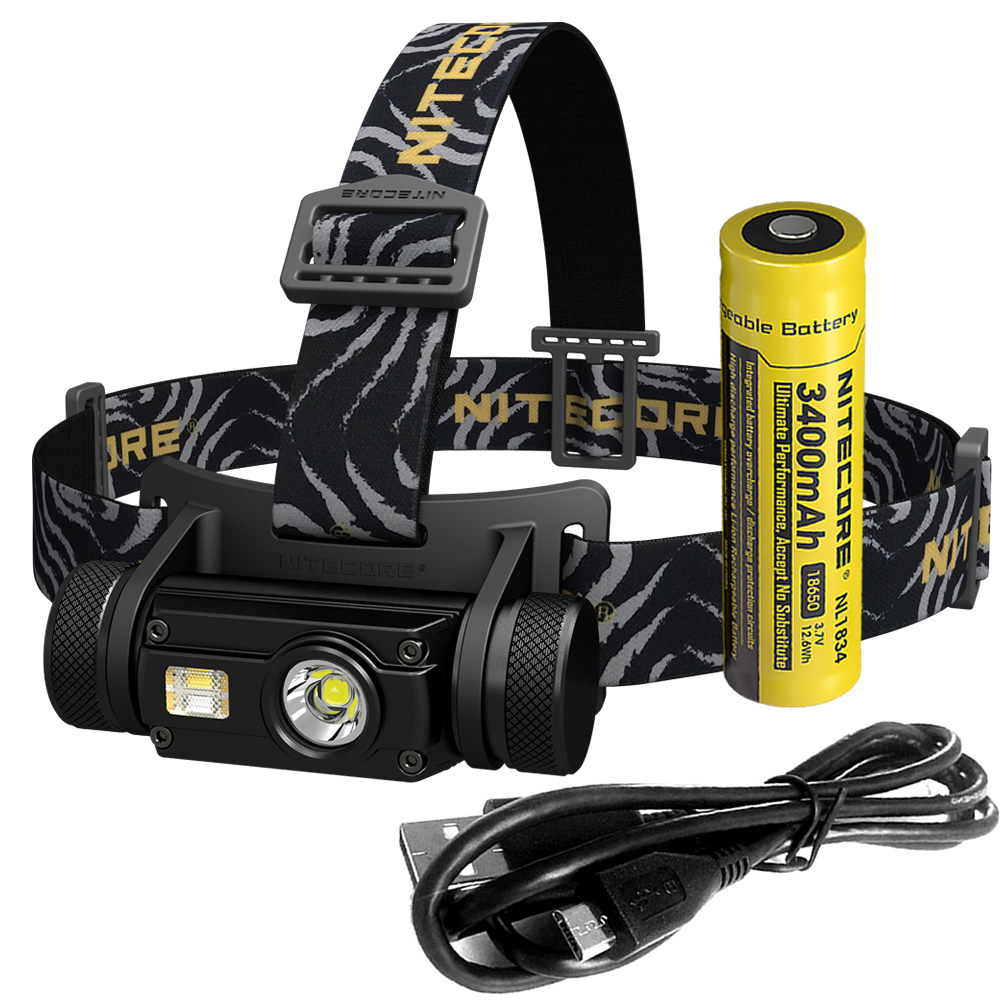 Nitecore HC65 18650 rechargeable LED Headlamp CREE U2 1000LM Triple Output Ourdoor Headlight Waterproof Flashlight Free