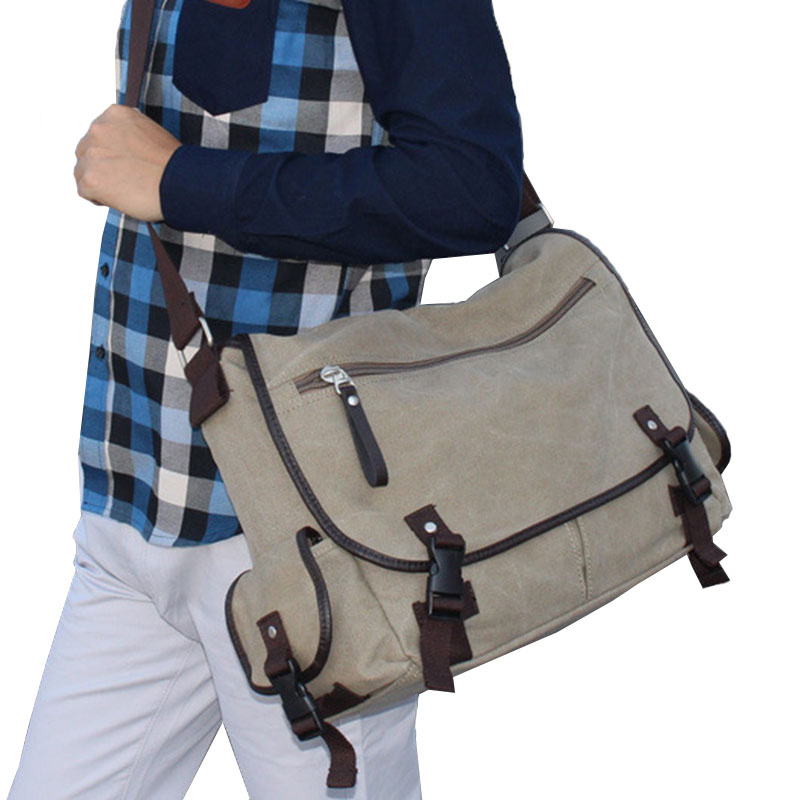 ФОТО 2017 Hot Sale Vintage Men Messenger Bags Canvas Satchel Shoulder Book Handbag Tote Purse High Quality Free Shipping P436