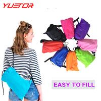 Brand YUETOR Fast Inflatable Lazy Sleeping Bag Double PolyesterHangout KAISR Air Sleep Camping Beach Sofa Bed