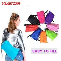 Brand YUETOR Fast Inflatable Lazy Sleeping Bag Double PolyesterHangout KAISR Air Sleep Camping Beach Sofa Bed