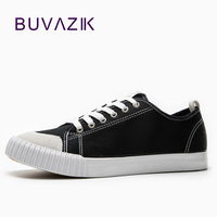 BUVAZIK 2018 spring summer canvas men shoes fashion white casual shoes hot sell lace up sneaker Male Breathable Footwear