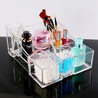 Transparent Acrylique Cosmétique Maquillage Bijoux Organisateur Creative Cristal En Plastique Tampons de Coton Boîte De Rangement De Bureau Cadeaux Spéciaux